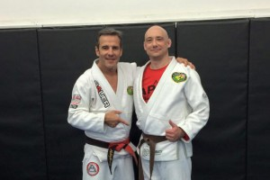 Cris and Pedro Sauer after Brown Belt Promotion Cropped